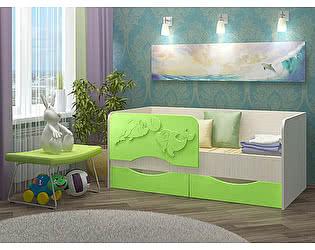 Детская кровать Вавилон 58 Дельфин-2 МДФ 2,0 м.