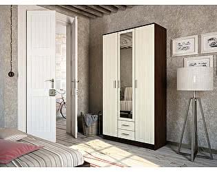 Шкаф Пенза мебель Фиеста 3-створчатый (венге/белфорт)