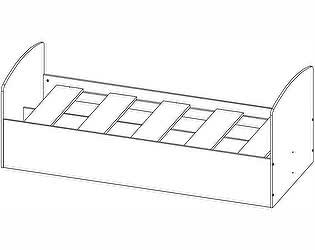 Кровать одинарная Олимп-Мебель Лего-2 (840х2032х654 мм)
