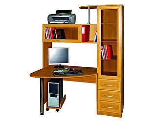Стол компьютерный Мебельный двор БОНУС-2 (однотонный) - яблоня