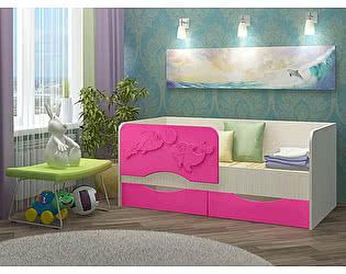 Детская кровать Вавилон 58 Дельфин-2 МДФ 1,4 м.