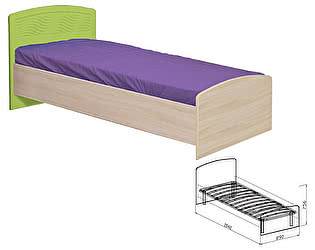 Кровать Союз-Мебель Акварель №9 (с основанием) SL