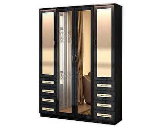 Купить шкаф Уют Сервис Гарун 112 для белья с двумя зеркалами