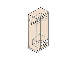 Шкаф для одежды Заречье Ника, мод.Н10