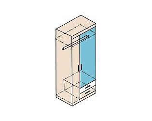Шкаф для одежды с зеркалом Заречье Ника, мод.Н10з