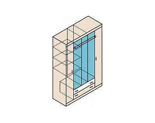 Шкаф для одежды Заречье Ника, мод.Н13