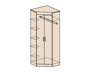 Шкаф угловой без зеркала Заречье Ника, мод.Н5
