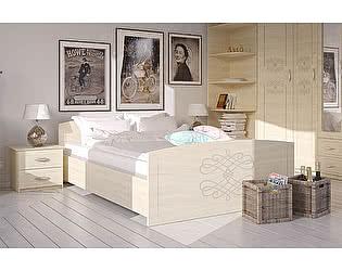 Кровать Армос Есения с основанием  и фотопечатью