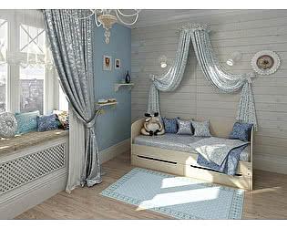 Кровать Армос Вейер с 2я ящиками и боковой стенкой