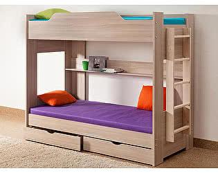 Кровать Боровичи двухярусная с ящиками
