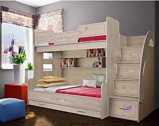 Кровать Фанки Лилак 21 двухъярусная