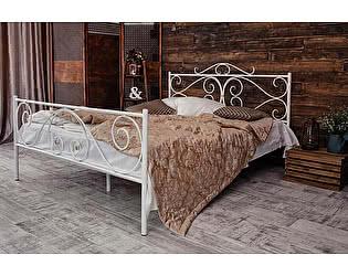Кованая кровать Валенсия 1.8 с двумя спинками