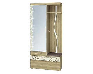 Купить прихожую Витра Ассоль 46.07 с крючками комбинированная с зеркалом