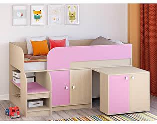 Купить кровать РВ Мебель чердак Астра-9 Дуб молочный V8
