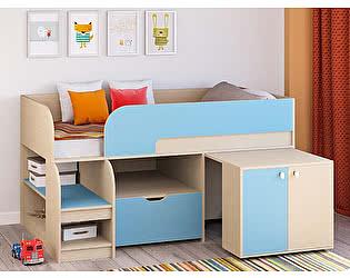 Купить кровать РВ Мебель чердак Астра-9 Дуб молочный V9