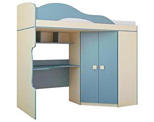 Купить кровать Горизонт Радуга 2 этаж + шкаф