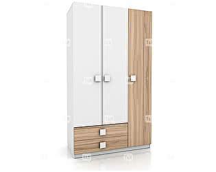 Купить шкаф Tomy Niki Lucas Oak E31 3х дверный с 2 ящиками