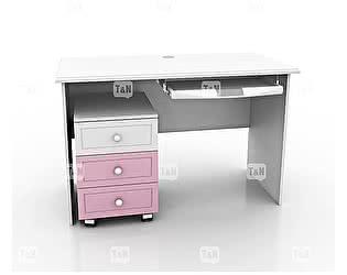 Купить стол Tomy Niki Robin S10 прямой c выкатной тумбой и полкой под клавиатуру
