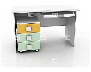 Купить стол Tomy Niki Tracy S10 прямой c выкатной тумбой и полкой под клавиатуру