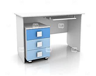 Купить стол Tomy Niki Rich S10 прямой c выкатной тумбой и полкой под клавиатуру