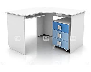 Купить стол Tomy Niki Rich S20 угловой c выкатной тумбой и полкой под клавиатуру