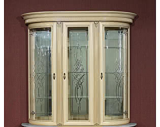 Купить шкаф Юта Милан 11 (позитано) 3х дверная витрина