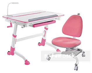 Купить стол FunDesk Volare Pink, кресло SST4 Pink, барьер SS7, лампа L5