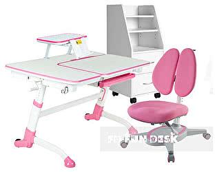 Купить стол FunDesk Amare Pink, кресло Primavera II pink, полка SS16, тумба SS15