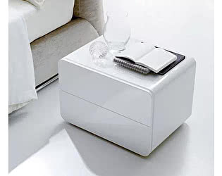 Купить тумбу M-City RIBES 03.51 (L030 блест.белый) с 2 ящиками 60х44х42 см