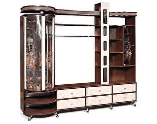 Купить шкаф КМК комбинированный с витриной Орфей-11, 0364.1-левый