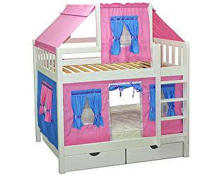 Купить кровать Мебель Холдинг Скворушка со шторками двухъярусная