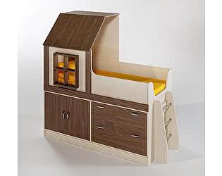 Купить кровать Фанки Кидз чердак Домик, арт. 9/2 с лестницей