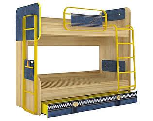 Купить кровать Любимый дом Джинс двухъярусная  (80), ЛД 507.150