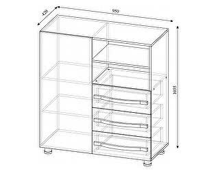 Купить комод SV-мебель Алекс-1 (клен / титан)