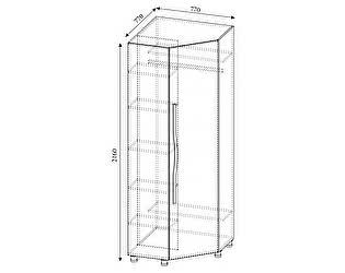 Купить шкаф SV-мебель Алекс-1 угловой (клен / титан)