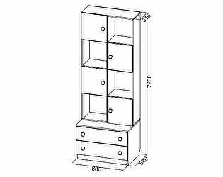 Купить шкаф SV-мебель Сити-1 открытый