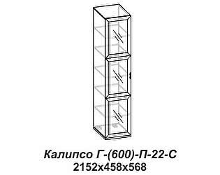 Купить шкаф Santan Калипсо Г-(600)-П-22-С
