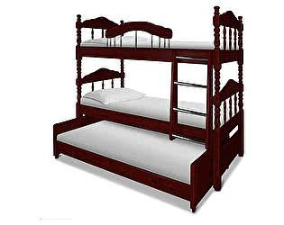 Купить кровать ВМК-Шале Альбион трехъярусная