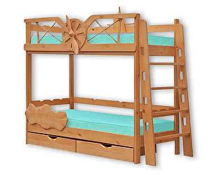 Купить кровать ВМК-Шале Полет двухъярусная