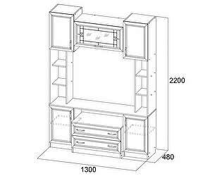 Купить тумбу SV-мебель Вега ВМ-08 для телевидеоаппаратуры