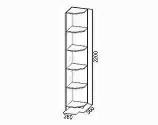 Купить стеллаж SV-мебель Угловое окончание Вега ВМ-09