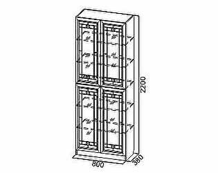 Купить шкаф SV-мебель Вега ВМ-12 для посуды