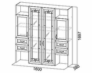 Купить гостиную SV-мебель Витрина Вега ВМ-20