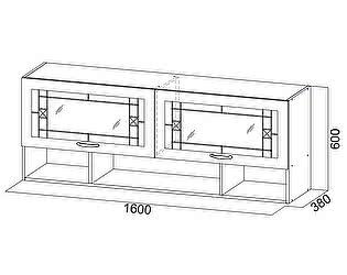 Купить полку SV-мебель Вега ВМ-21 навесная