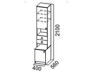 Купить шкаф SV-мебель Пенал Гамма-15 открытый