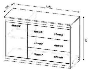Купить комод SV-мебель Гамма-19 со створкой