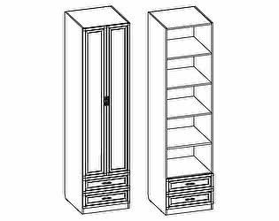 Купить шкаф Santan Калипсо Д-(600)-П-11, 2-х дверный с полками (с патиной)