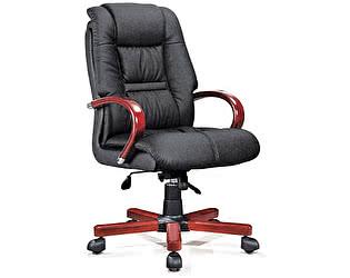 Купить кресло Норден Берн черная экокожа, дерево,металл