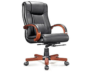 Купить кресло Норден Консул черная экокожа, дерево