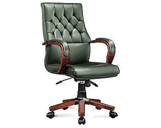 Купить кресло Норден Ботичелли зеленая экокожа, дерево